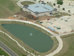 Aerial photography for construction progress of Valley Creek Church, Flower Mound, TX