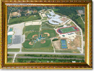 aerial photography of school in Argyle, TX