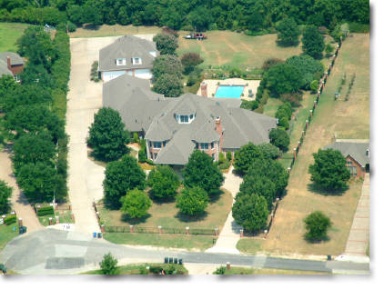 oblique aerial photography of home in Frisco, TX