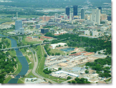 aerial photography of Ft. Worth, TX